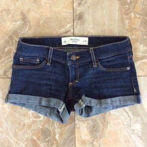 Abercrombie Dark Wash Jean Shorts size 25